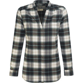 Royal Robbins Merinolux Plaid Camisa de franela Mujer, green gables